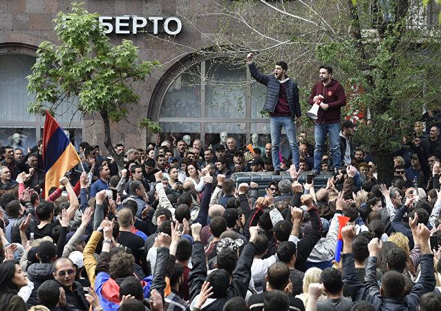 Protestas en Armenia