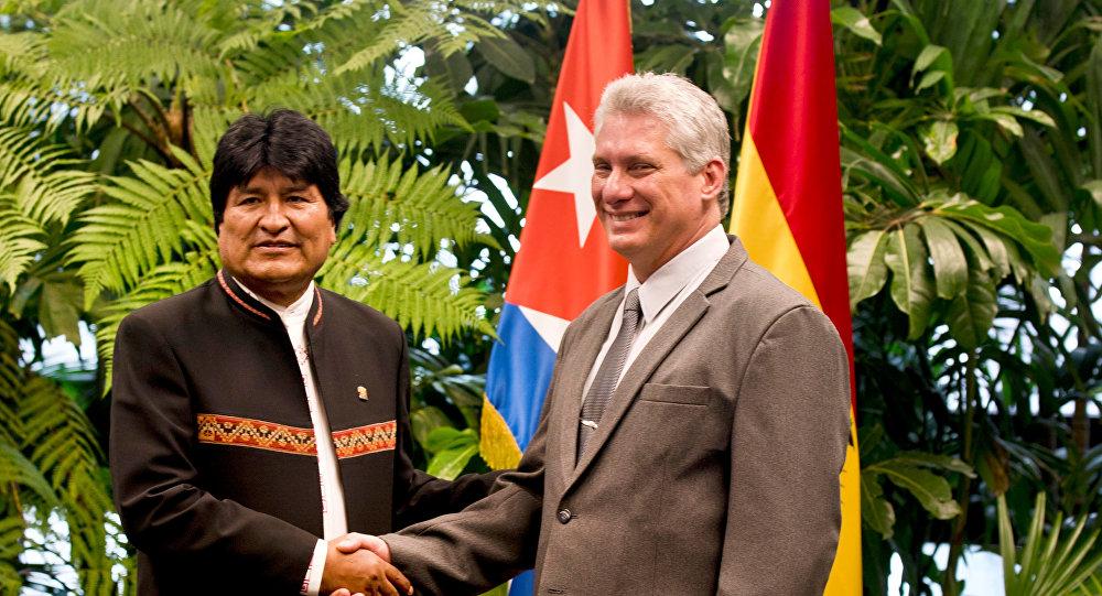 Resultado de imagen para Evo Morales y miguel díaz Canel