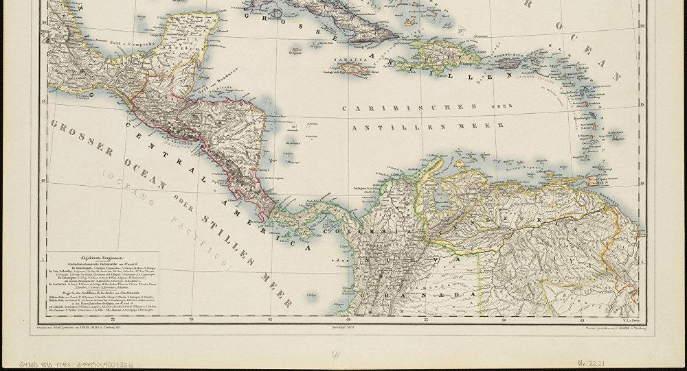 Un mapa antigua de América Latina (imagen referencial)