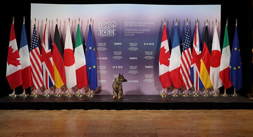 Banderas de los países miembros de G7