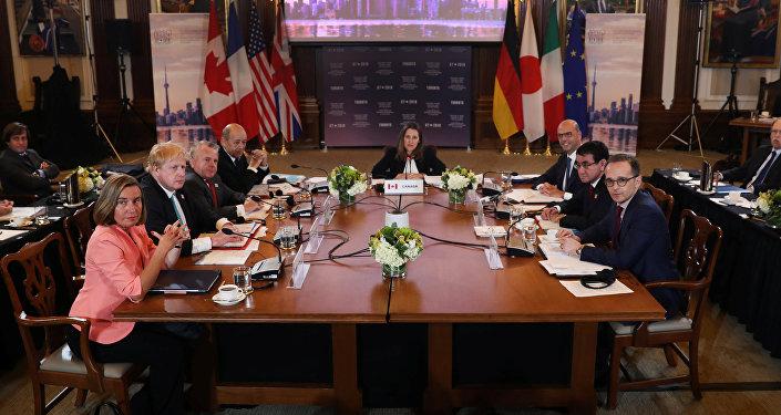 Los ministros de Asuntos Exteriores y de Seguridad del G7 en Toronto