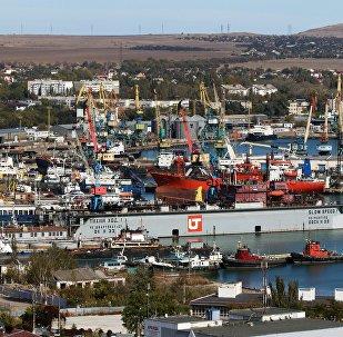 Un puerto en Crimea (archivo)