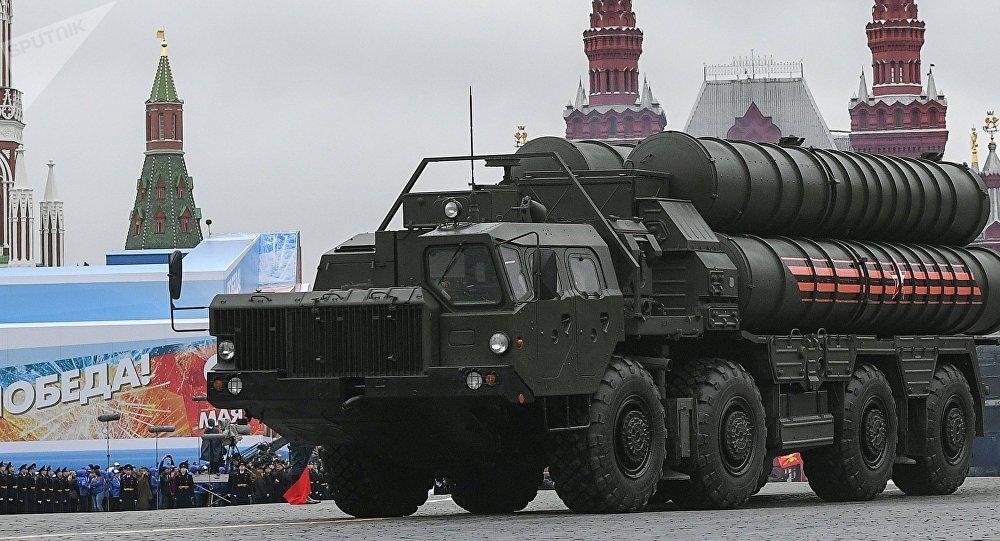 S-400 Triumf ruso en la Plaza Roja de Moscú
