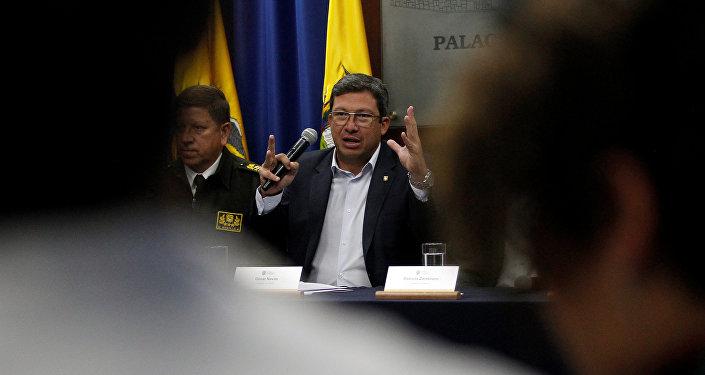 César Navas, el ministro del Interior ecuatoriano
