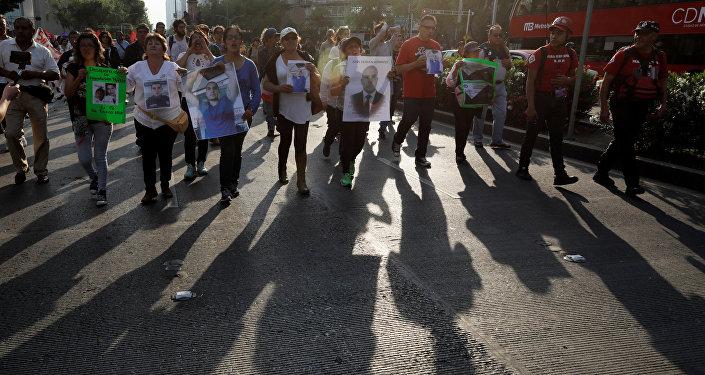 Marcha en Ciudad de México por el asesinato de los estudiantes de cine