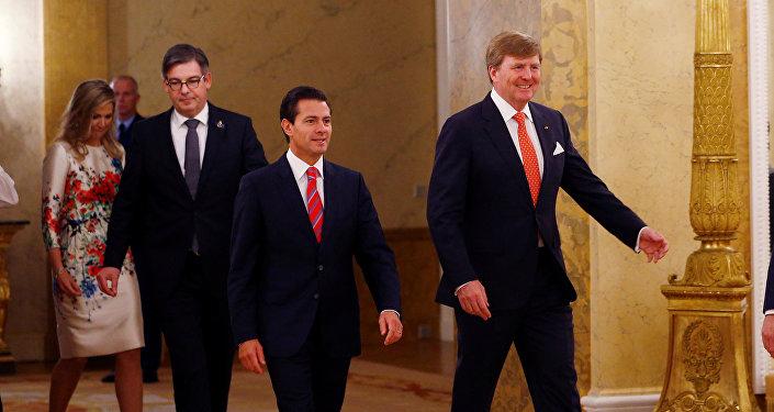 Enrique Peña Nieto, presidente de México y Willem-Alexander, rey de los Países Bajos