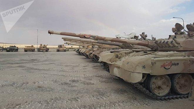 Los vehículos blindados entregados por los grupos armados en Al Qalamun Oriental