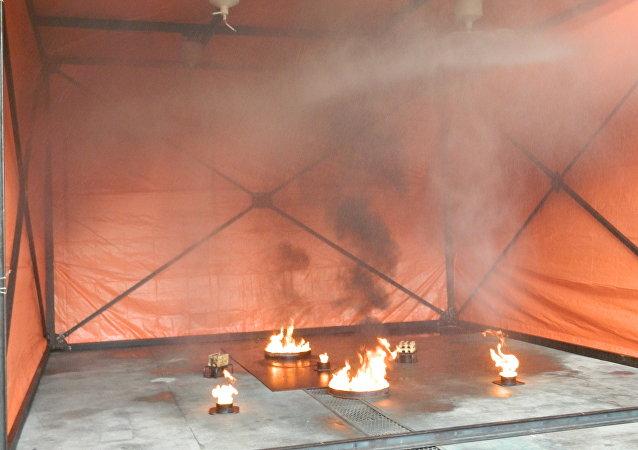 Demostración de los módulos antiincendios Uracan