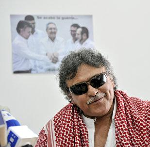 Jesús Santrich, exguerrillero colombiano, integrante del partido político FARC