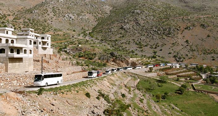 Los autobuses con los refugiados sirios (imagen referencial)