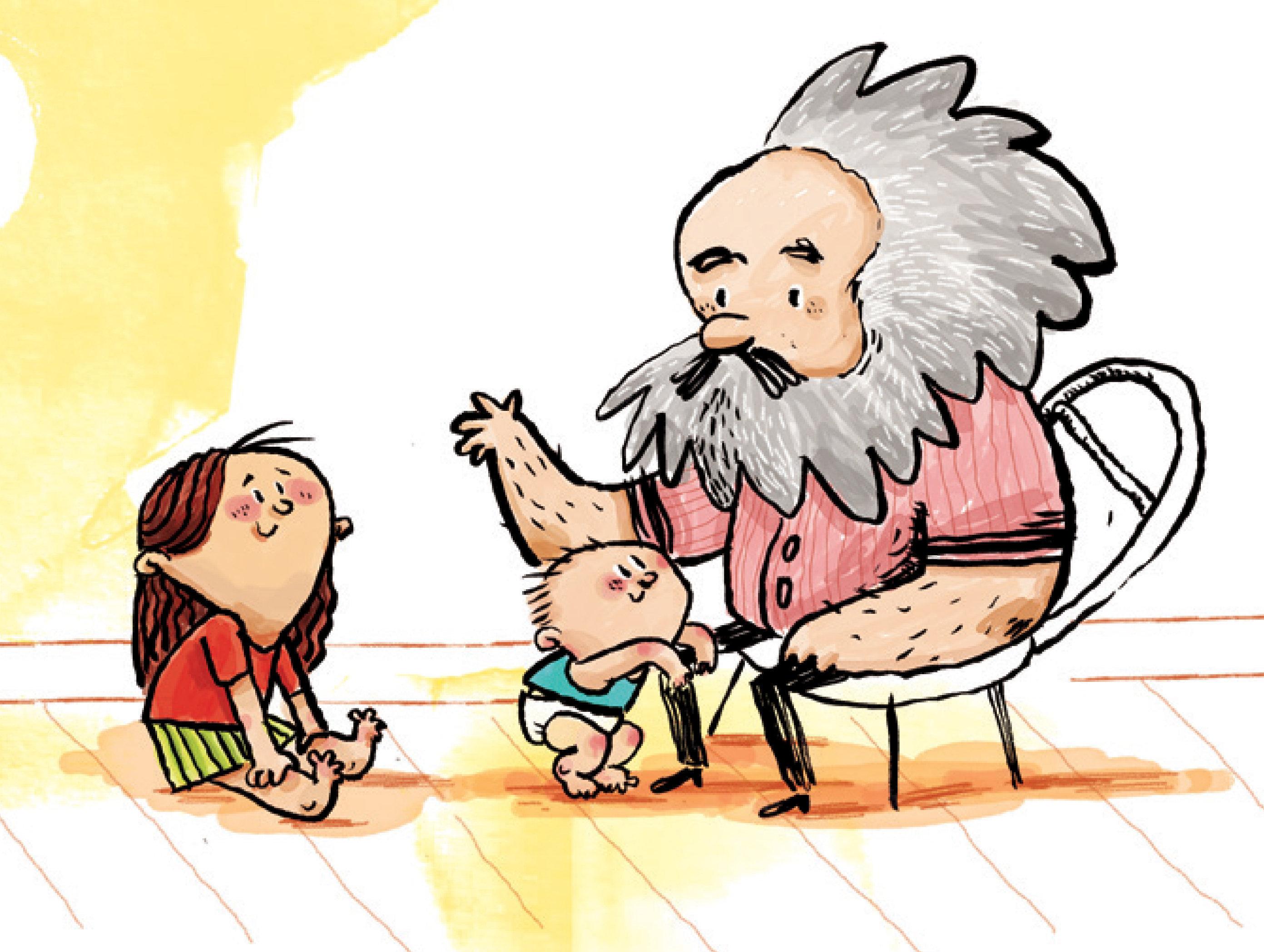 Una de las ilustraciones de El Capital para niños, de Liliana Fortuny y Joan Riera