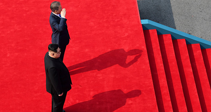 Reunión entre el líder de Corea del Norte, Kim Jong-un, y el presidente de Corea del Sur, Moon Jae-in