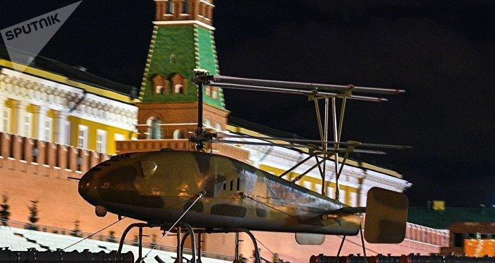 Dron de combate Korsar - helicóptero