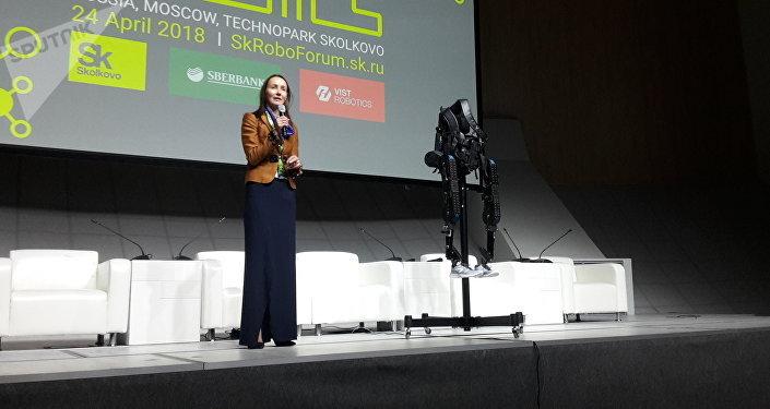Ekaterina Berezi, cofundadora de la empresa ExoAtlet
