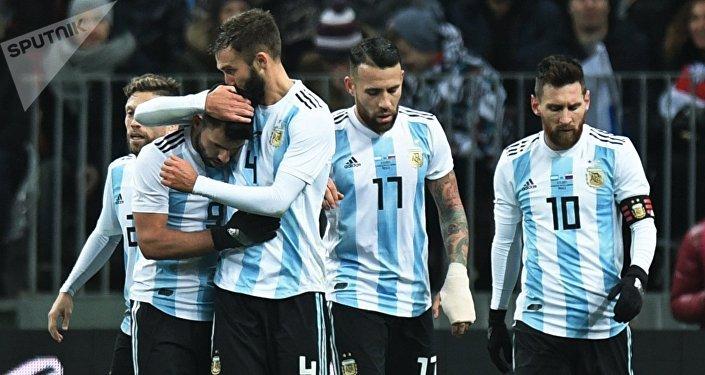 La selección de fútbol de Argentina (archivo)