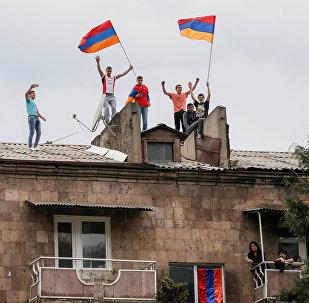 Las protestas de la oposición en Armenia
