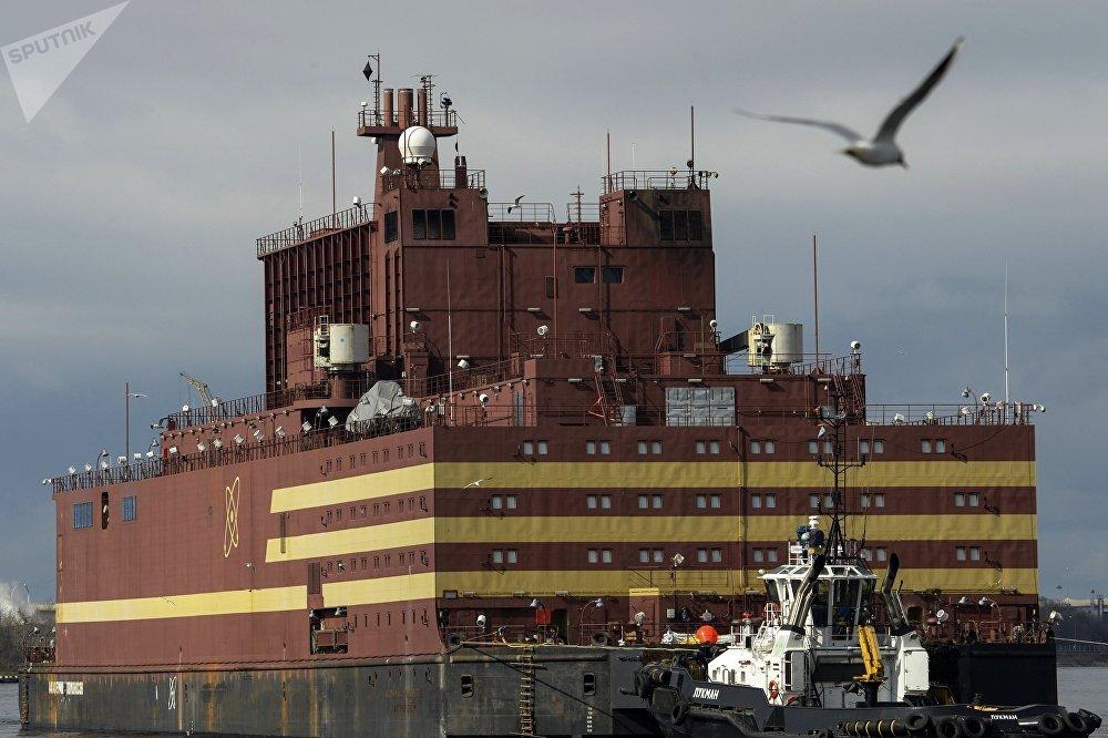La central nuclear flotante rusa Academico Lomonosov