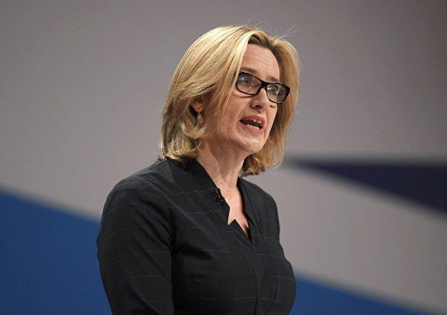 Amber Rudd, la secretaria del Interior del Reino Unido
