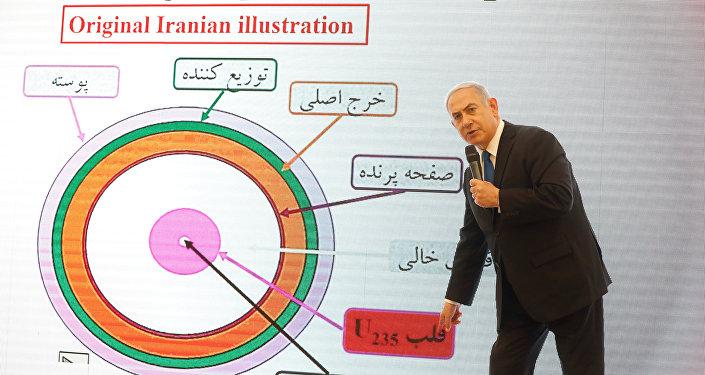 Benjamín Netanyahu, primer ministro de Israel, presenta archivo nuclear secreto de Irán