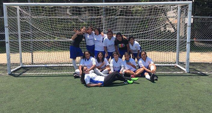 El equipo de fútbol de la Fundación Casa Alianza