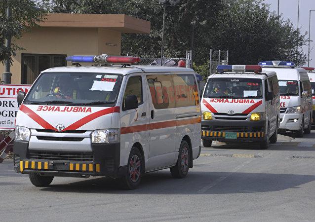 Ambulancia pakistaní (imagen referencial)