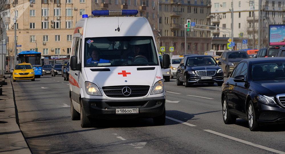 Una ambulancia en Moscú