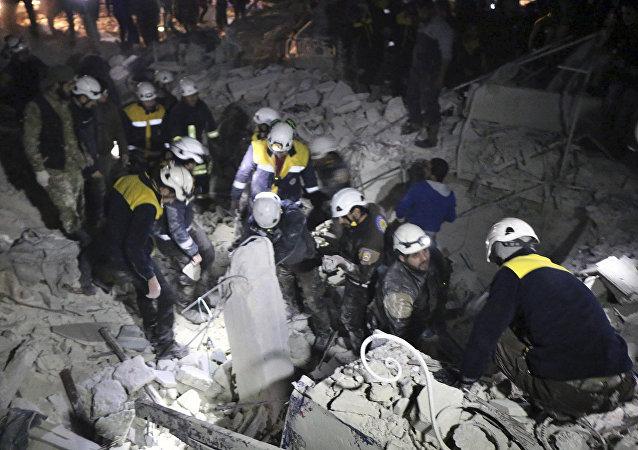 Cascos Blancos en Siria (archivo)