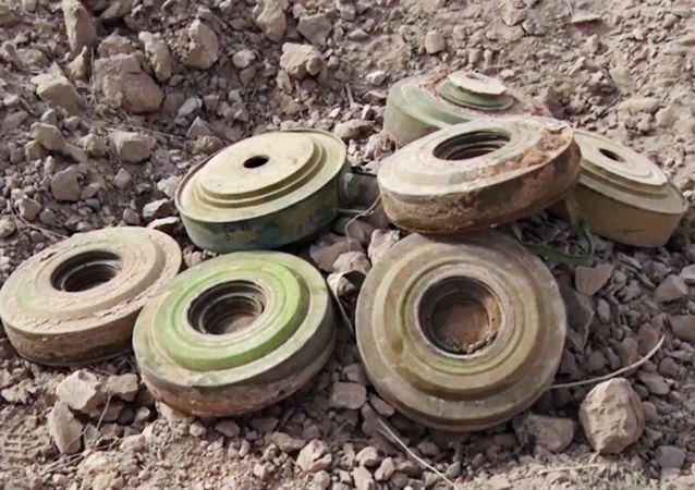 Minas terrestres en Siria (archivo)