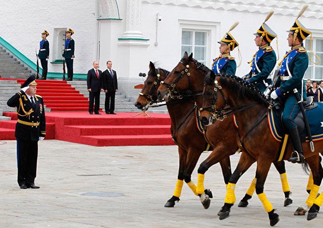 La ceremonia de la investidura del presidente ruso en el Kremlin