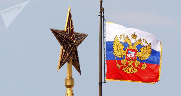 El estandarte (bandera) del presidente de la Federación de Rusia