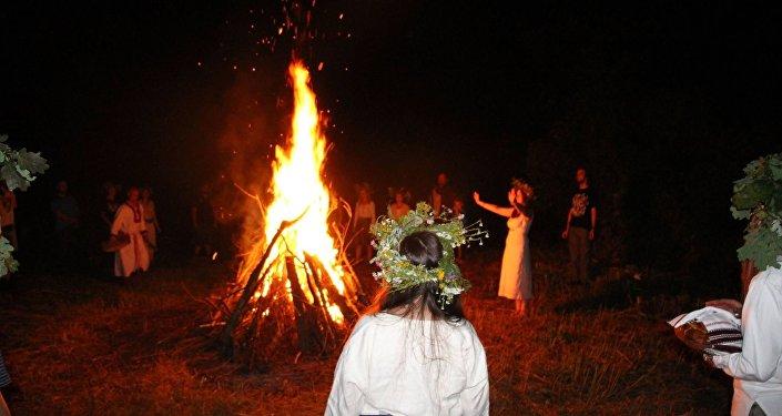 Las festividades paganas de la organización Watra en Polonia
