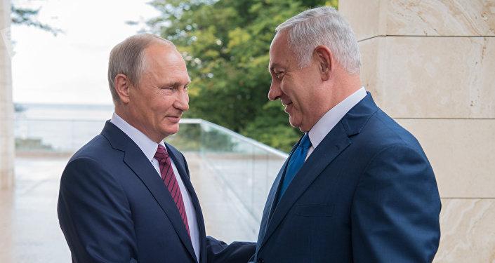 El presidente de Rusia, Vladímir Putin y el primer ministro de Israel, Benjamín Netanyahu (archivo)