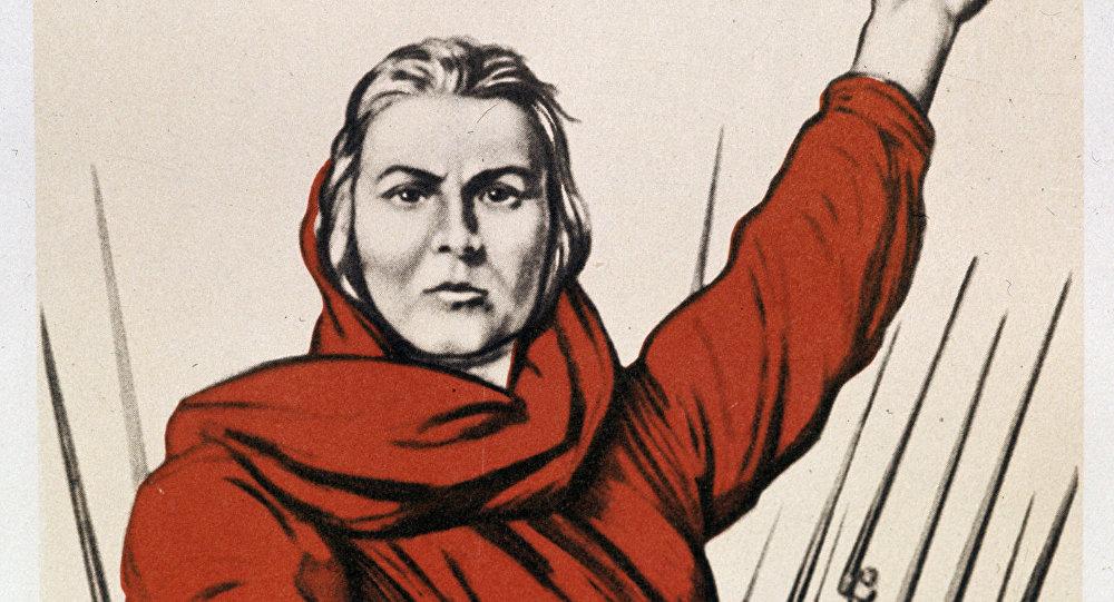 Cartel de la Madre Patria llamado a la Gran Guerra Patria (archivo)