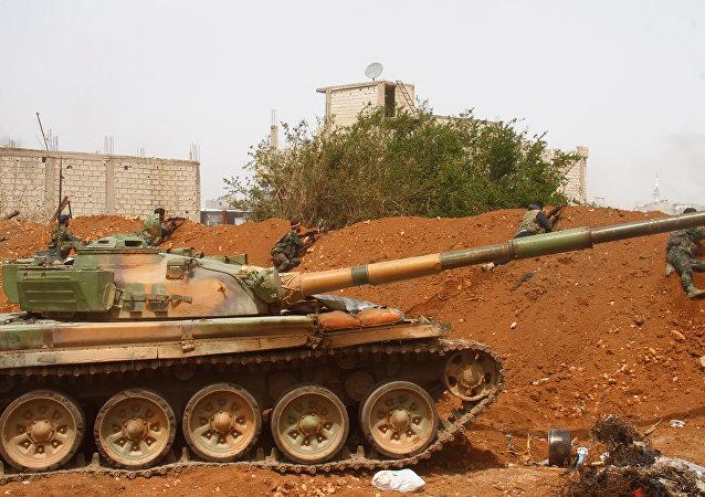 Soldados de las FFAA sirias en Damasco (archivo)
