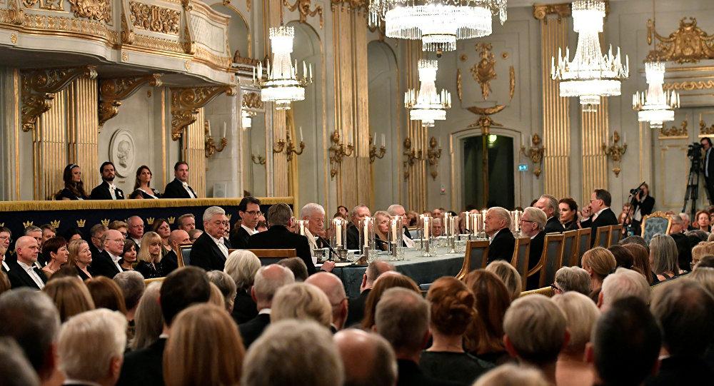 La reunión anual de la Academia Sueca (archivo)