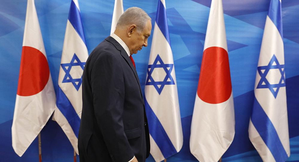 El primer ministro de Israel, Benjamin Netanyahu, durante la visita de su homólogo japonés, Shinzo Abe, en Jerusalén