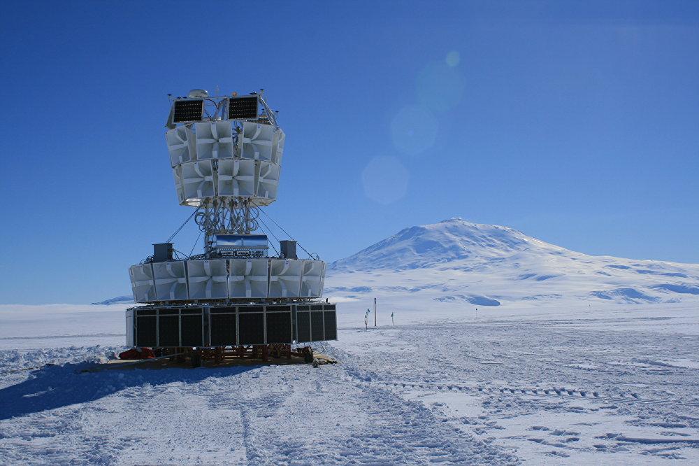 Un bloque de antenas de radio ANITA