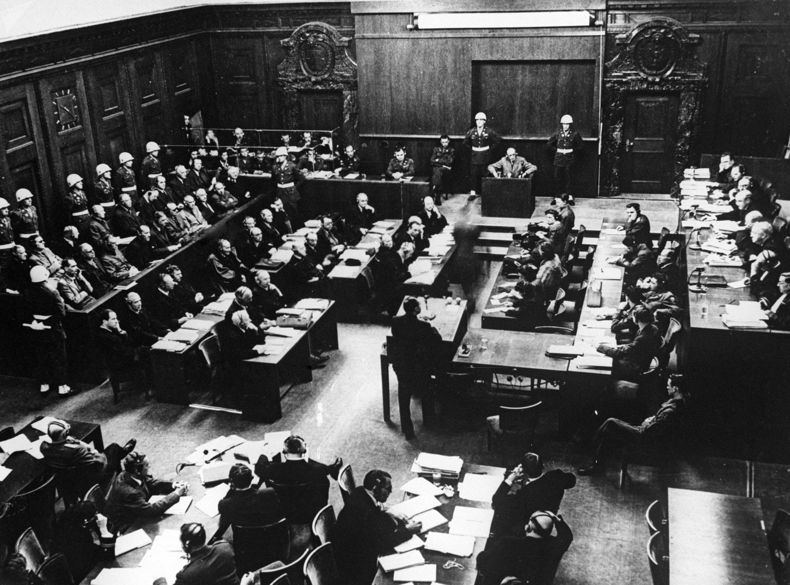 El Juicio de Núremberg, una de las sesiones del Tribunal de Guerra Internacional