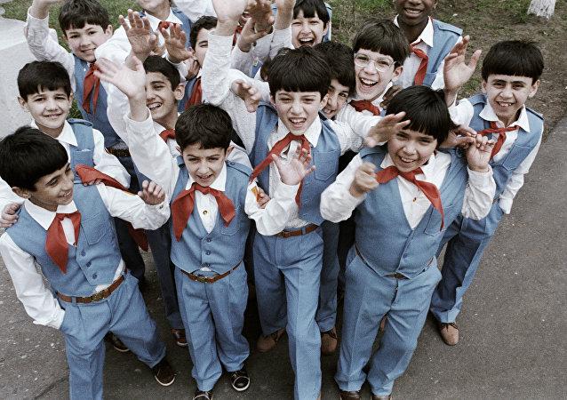 Alumnos de la Escuela Internado de Ivánovo (archivo)
