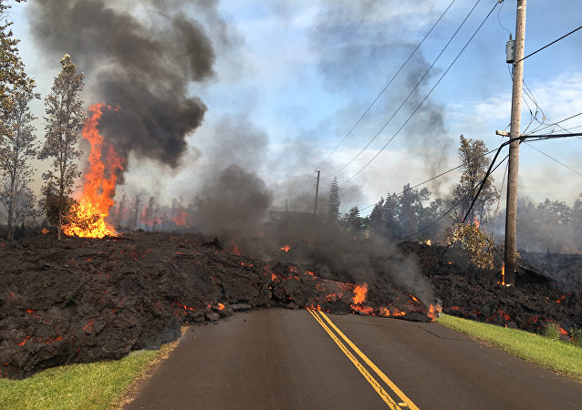 La lava del volcán Kilauea en Hawái