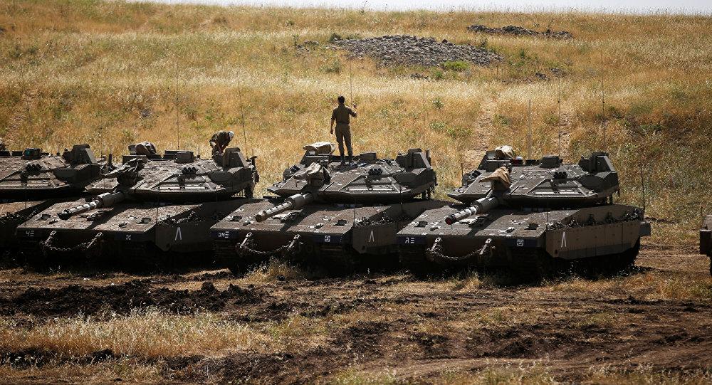 Los soldados de las FFAA de Israel en los Altos del Golán