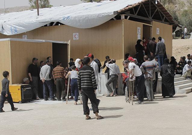 Un campamento para refugiados sirios