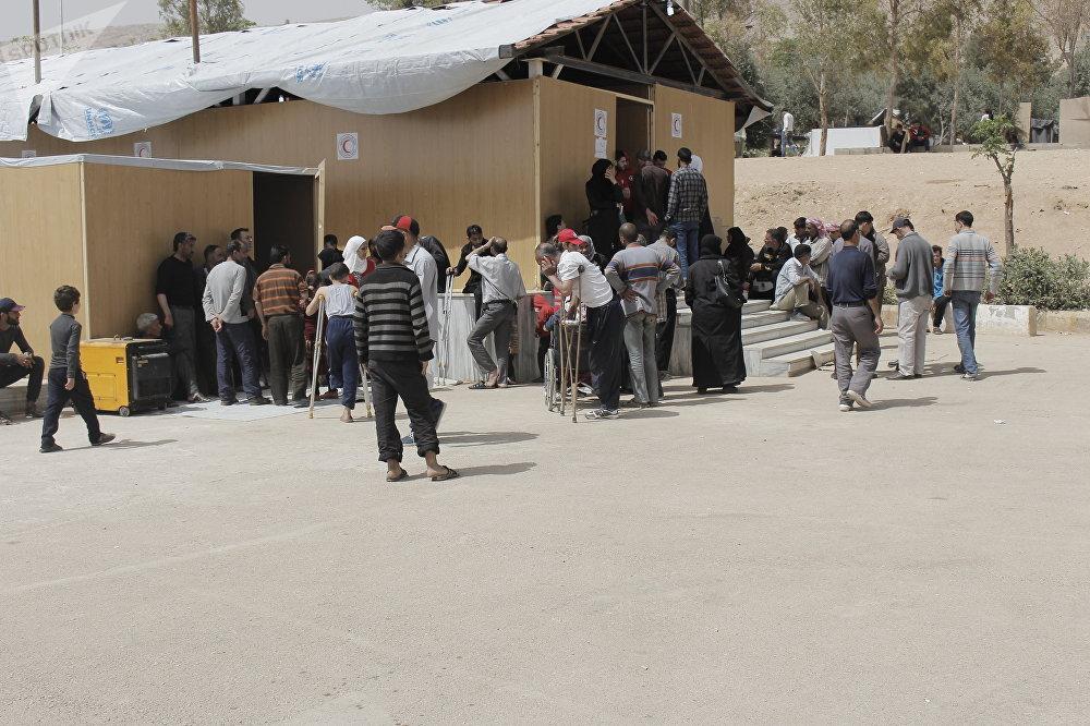 Uno de los campamentos para refugiados en los que vivían los desplazados de Guta Oriental
