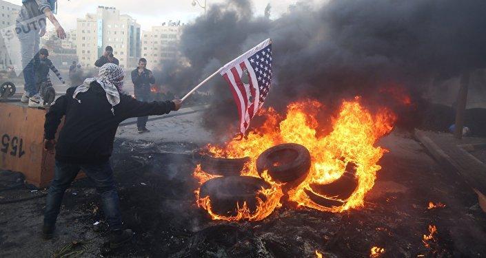 Protestas en Palestina contra la decisión de reconocer a Jerusalén como capital de Israel