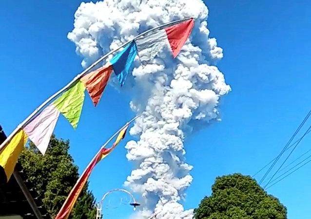 La erupción del Monte Merapi en Java