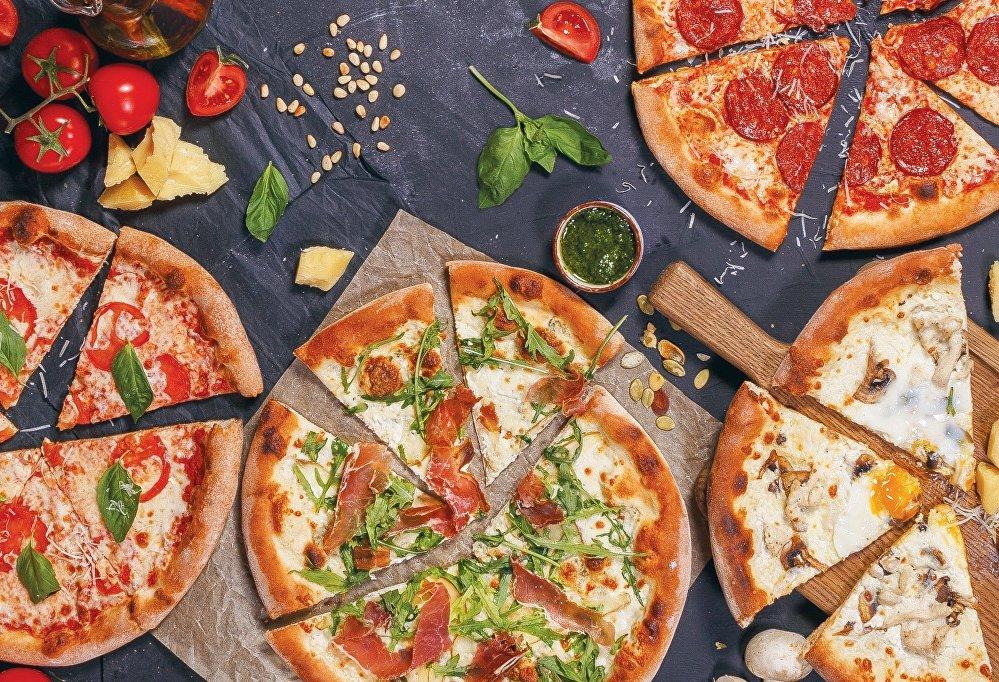 Pizza en el restaurante Donna Olivia
