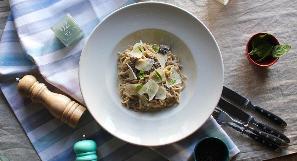 La tradicional pasta italiana en el restaurante Mukka