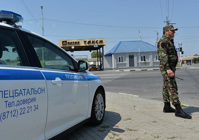 Policía en Grozni, capital de Chechenia