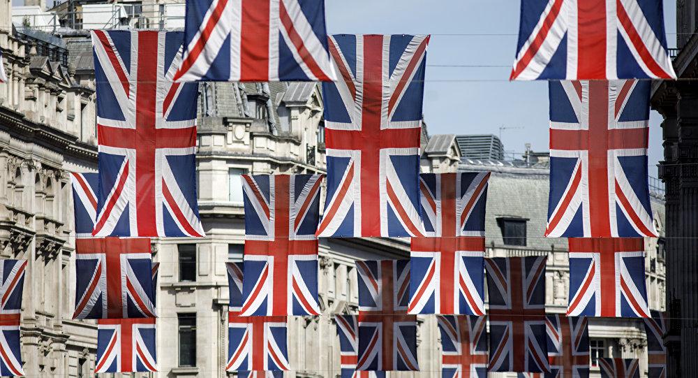 Banderas del Reino Unido en Londres