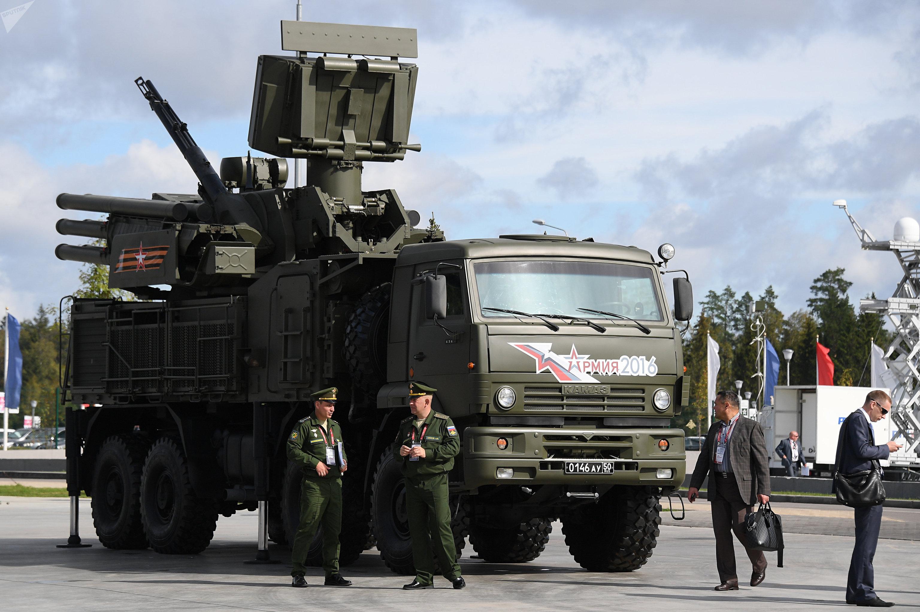 Un Pantsir ruso durante el foro militar Army-2016